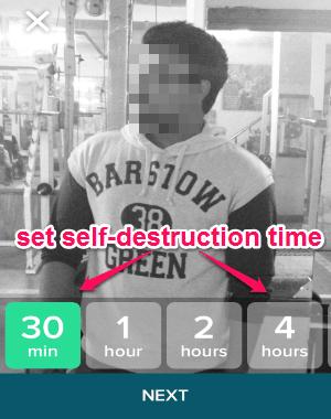 set self destruction time