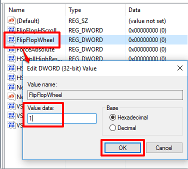 set value data of FlipFlopWheel to 1 and save