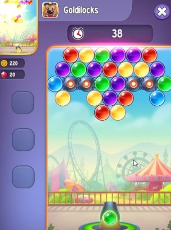 talking tom bubble shooter game screen