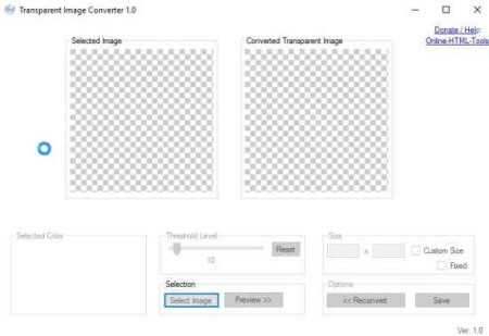 trasparent image converter home