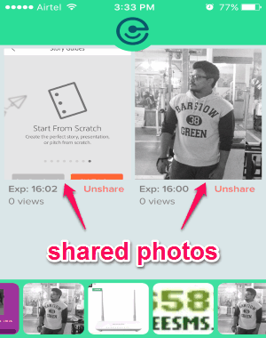 unshare shared images