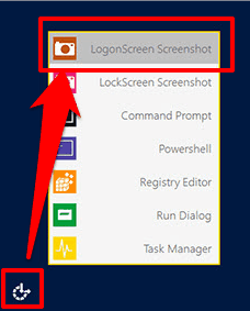 use LogonScreen Screenshot option