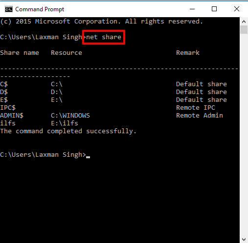 use command prompt window