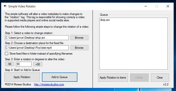 video rotate software windows 10 5