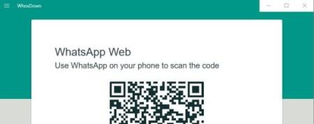 whosdown qr code scan