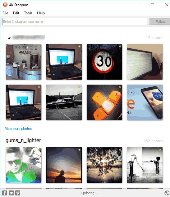 4K Stogram- interface