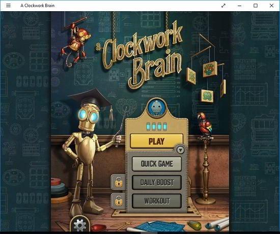 A Clockwork brain gameplay options