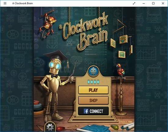 A Clockwork brain main screen