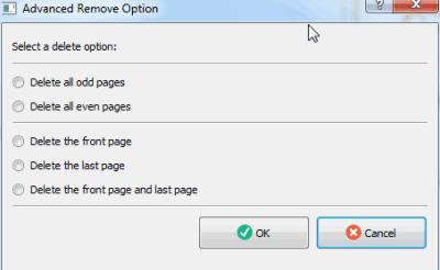 PDf Page Remover- Advance Remove Option