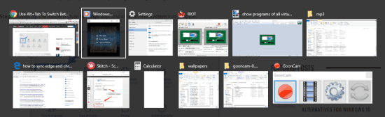 Alt+Tab showing applications of all virtual tabs in Windows 10