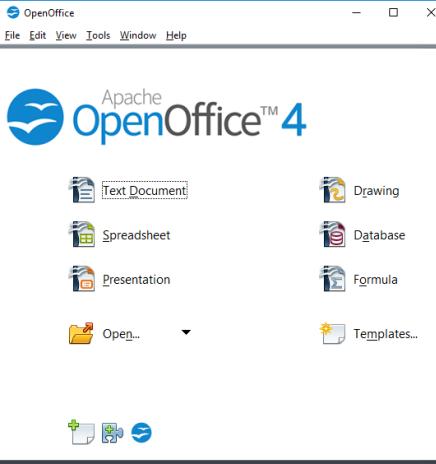 Apache OpenOffice- interface