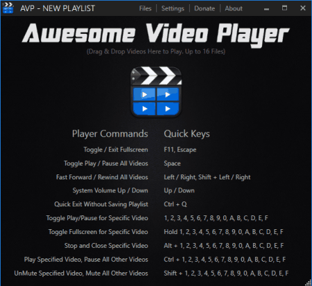 Awesome Video Player- hotkeys