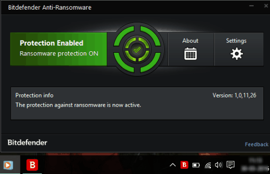 Bitdefender Anti-Ransomware- interface