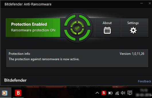 Bitdefender Anti-Ransomware- interface