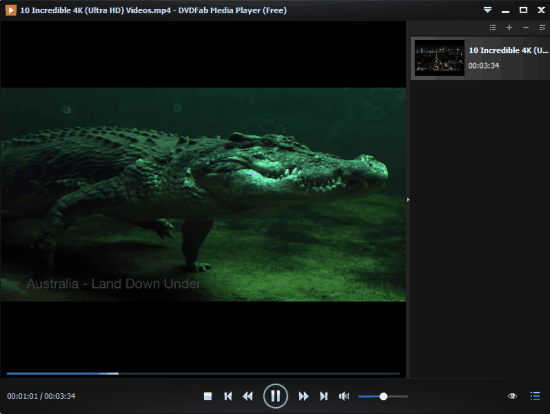 DVDFab Media Player- free media player with 4K Video support