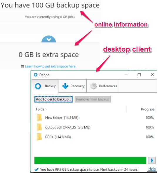 Degoo- gives maximum 600 GB free backup
