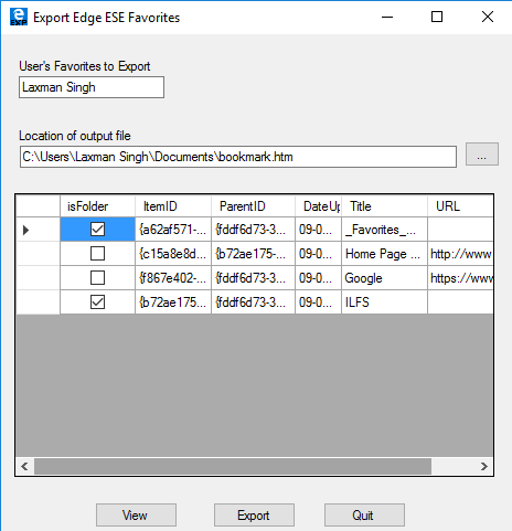 Export Edge software