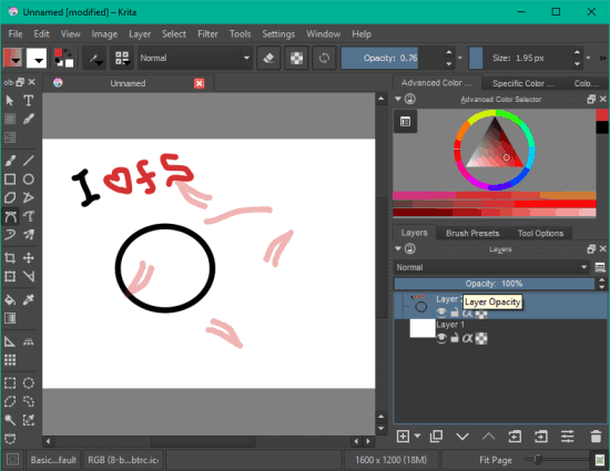 Krita- interface