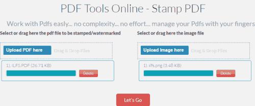 PDF Tools Online-Stamp PDF