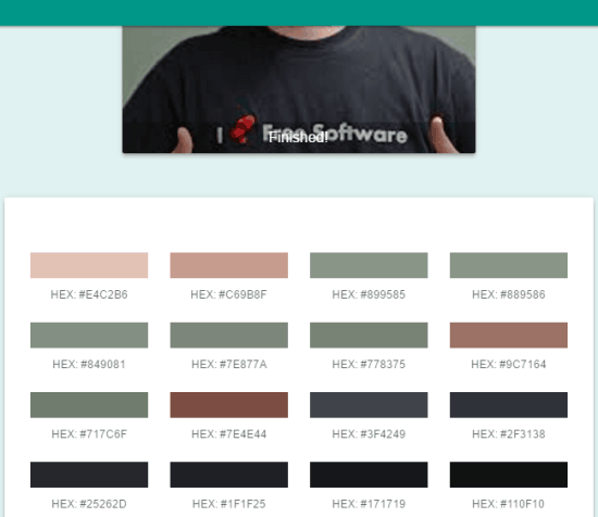 Palette Creator- generate color palette from any online image