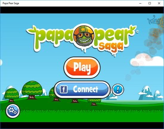 Papa Pear Saga main screen