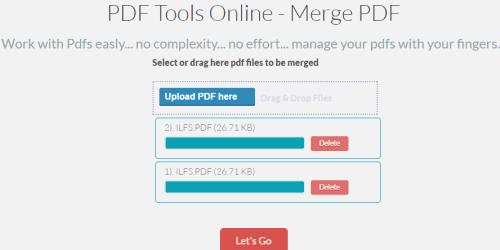 PDF Tools Online-Merge PDF Tool