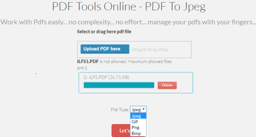 PDF Tools Online-PDF To Image