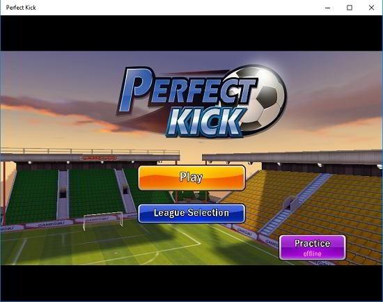 Perfect Kick main screen