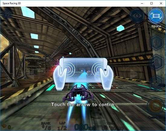 Space Racing 3D controls