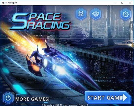 Space Racing 3D main screen