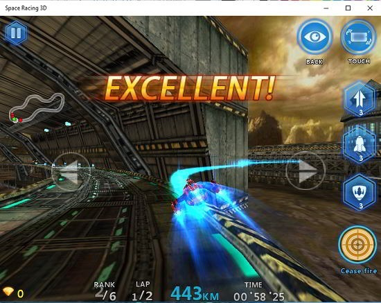 Space Racing 3D shots fired