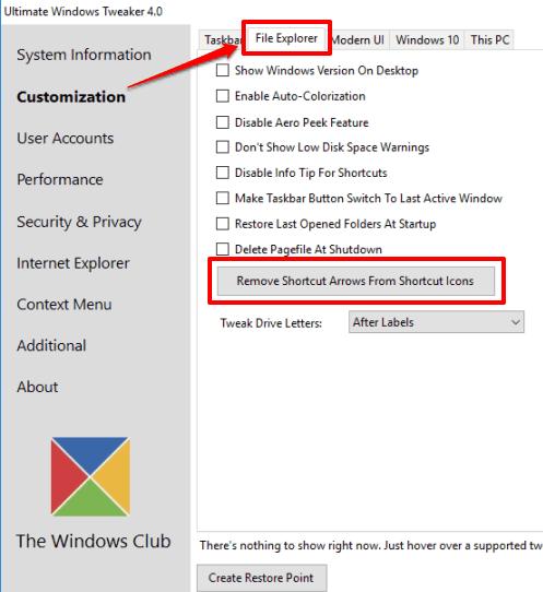 Ultimate Windows Tweaker for Windows 10
