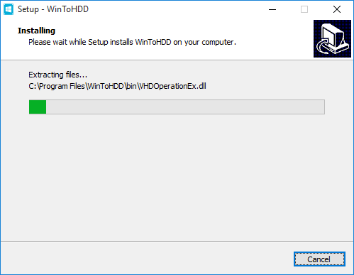 Wintohdd install process
