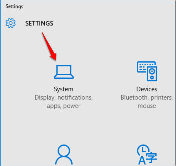 access System in Settings
