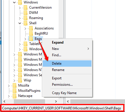 access and delete another Bags key
