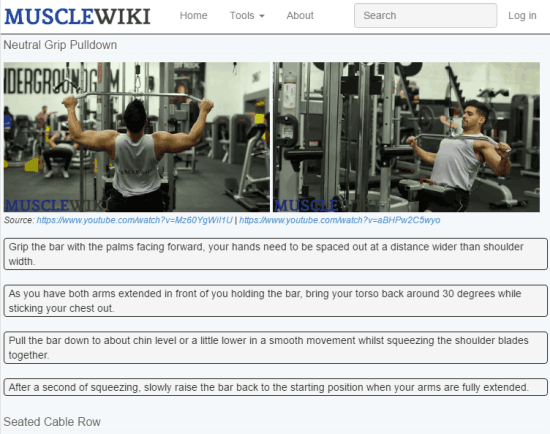 check workout videos and instructions