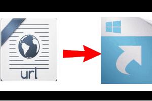 convert internet shortcut files to Windows shortcut files