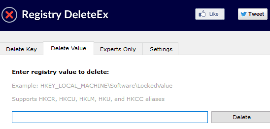 delete a key or value