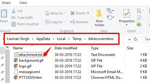 eml file attachments