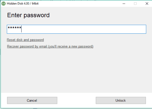 enter password to access disk
