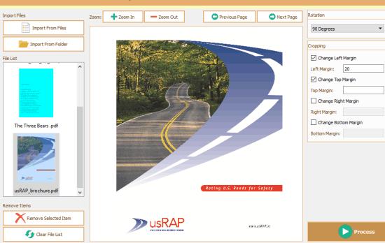 free PDF rotator and cropper