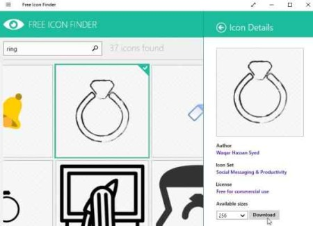 free icon finder icon details