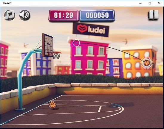 iBasket cartoon gameplay