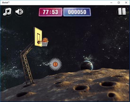 iBasket moon gameplay
