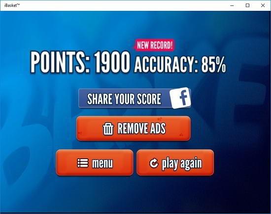 iBasket score summary