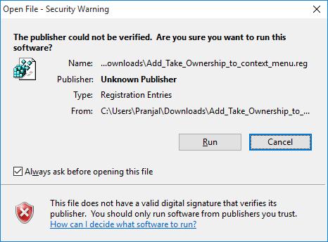 allow registry modification