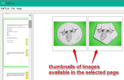 images of a PDF page