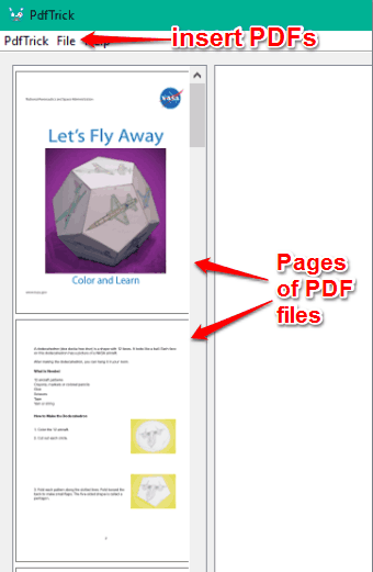 insert PDFs and view pages