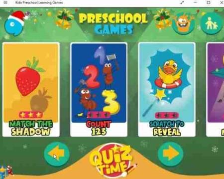 kids preschool learning games home