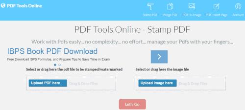 PDF Tools Online- Watermark PDF Files Online